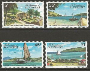 GRENADINES OF ST.VINCENT SG106/9 1977 CANOUAN ISLAND MNH