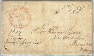 72326 - UNITED STATES USA - PREPHILATELIC Cover:  SPRINGFIELD, ILL  1839
