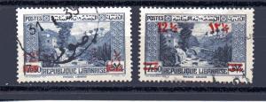 Lebanon 150-151 used