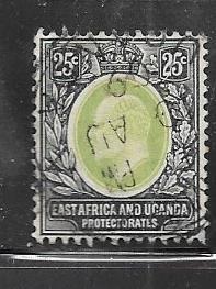 East Africa and Uganda  #37 25c  (U)  CV $8.50