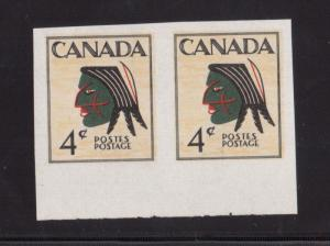 Canada 4 Cent Indian Head Unissued XF/NH Imperforate Pair