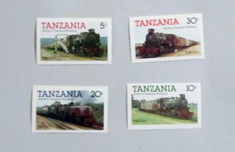 Tanzania - 271-74, MNH Set. Locomotives. SCV - $1.40