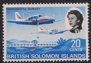 British Solomon Islands 1968 QE2 20ct Geological Survey Umm SG 175 ( M1265 )