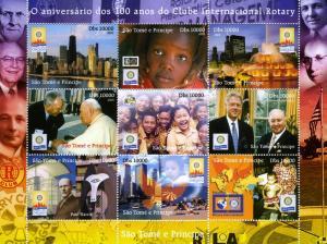 Sao Tome & Principe 2005 Rotary Anniversary Sheet Perforated mnh.vf