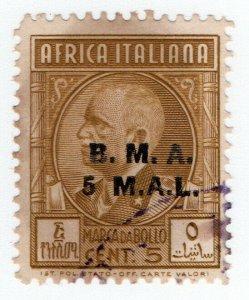 (I.B) BOIC (Italian East Africa) Revenue : Duty Stamp 5m on 5c OP