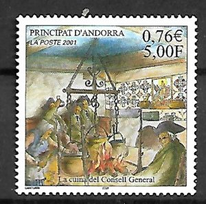 ANDORRA STAMPS. THE KITCHEN OF THE GENERAL COUNCIL 2001, MNH