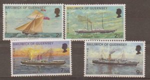 GUERNSEY SG67/70 1972 MAIL PACKET BOOATS MNH