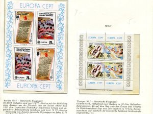 Europa CEPT lot from 1967,79,81,82 VF NH  - Lakeshore Philatelics