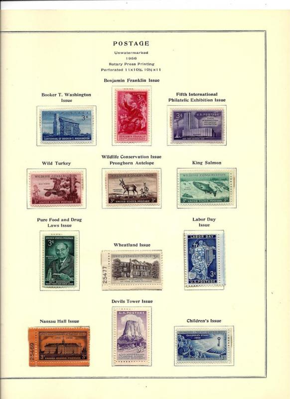 1017//1094 Mint,OG,NH... From Years 1953-1957... SCV $12.95