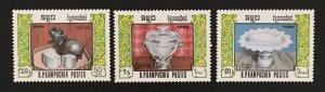 Cambodia 1986 #742-4, Silverware, MNH.