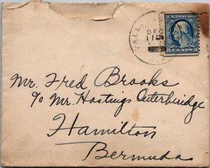 NC > Hamilton Bermuda 5¢ stamp 1891(?) cover