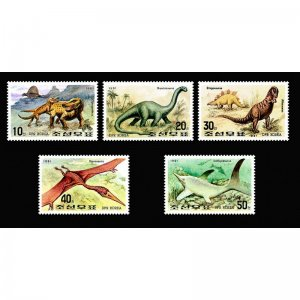 Korea 1991 Mesozoic animals  (MNH)  - Dinosaurs