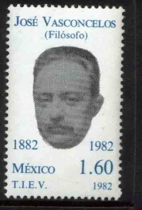 MEXICO 1309 Jose Vasconcelos, Philosopher and Writer MINT, NH. F-VF.