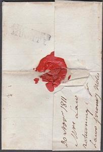 GB SCOTLAND 1811 folded entire to Edinburgh - scarce AUCHTER / MUCHTY......54042