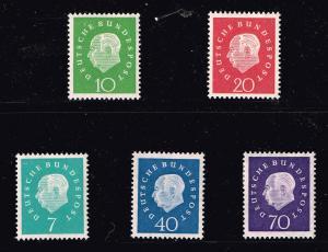 GERMANY STAMP 1959 Professor Dr. Th. Heuss MH/OG SET