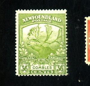 NEWFOUNDLAND #126 MINT FVF OG HR Cat $38