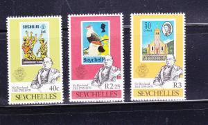 Seychelles 434-436 Set MNH Stamps on Stamps (B)