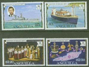 ANGUILLA Scott 271-274 QE2 25th Anniversary set 1977 **