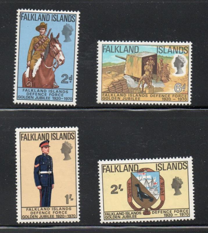 Falkland Islands Sc 88-91 1970 Defense Force stamp set mint NH