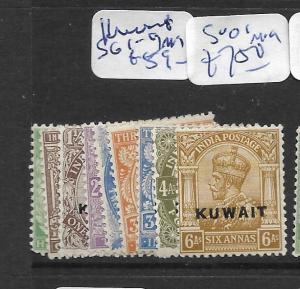 KUWAIT (P0902B) KGV ON INDIA SG 1-9   MOG