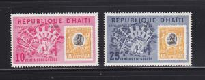 Haiti 501-502 MHR Stamps On Stamps