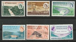 Rhodesia & Nyasaland # 172-77  Kariba Dam   (6)  Mint NH