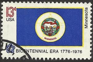 # 1664 USED STATE FLAG MINNESOTA