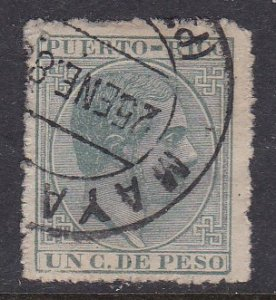 Puerto Rico #63 F-VF Used King Alfonso XII