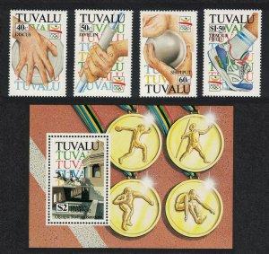 Tuvalu Olympic Games Barcelona 4v+MS 1992 MNH SG#647-MS651 CV£12.-