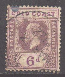 Gold Coast Scott 89 - SG94, 1921 George V 6d used
