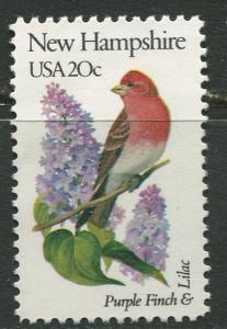 USA - Scott 1981 - State Birds & Flowers - 1982 - MNG - Single 20c Stamp