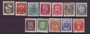J24596 JLstamps 1941 france set mh #b117-128 arms of cities