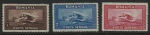 Romania C1-C3 MNH mint aircraft airmail cv $9      (Inv 2017042)