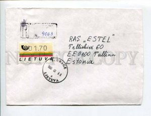 413231 Lithuania ESTONIA 1997 registered Taurage Variable value stamp