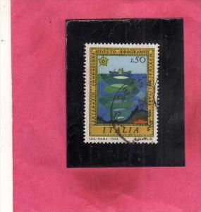 ITALIA REPUBBLICA ITALY REPUBLIC 1973 FONDAZIONE DELL´ISTITUTO IDROGRAFICO D...