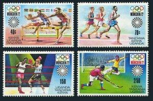 Kenya,Uganda,Tanzania 250-253a,MNH.Michel 238-241,Bl.2. Olympics Munich-1972.