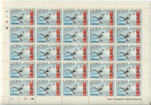 CAYMAN ISLANDS #262 Grand Thrush British Commonwealth Sheet Stamps Postage MNH