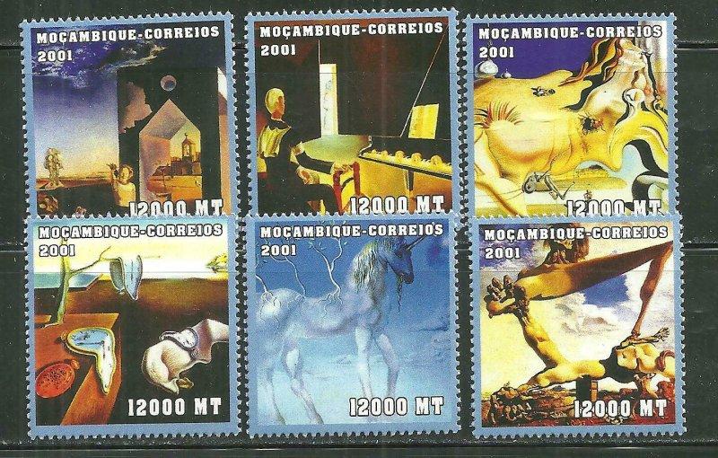 Mozambique MNH 1471A-F Salvador Dali Works SCV 8.00