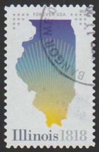 SC# 5274 - (50c) - Illinois Statehood - Used Single Off Paper