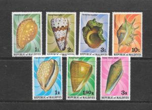 SHELLS  - MALDIVES #786-92  MNH