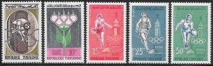 Tunisia 373-377 MNH - Summer Olympic Games 1960 - Rome
