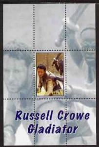Angola 2000 Russell Crowe - Gladiator perf s/sheet #1 unm...