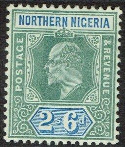 NORTHERN NIGERIA 1905 KEVII 2/6 WMK MULTI CROWN CA