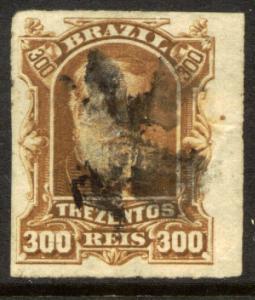 Brazil 75, 300r Emperor Dom Pedro. Used. (151)