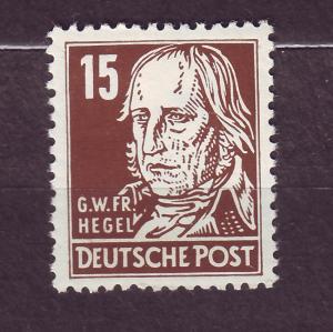 J14666 JLstamps 1953 germany DDR mh #126 hegel wmk 297