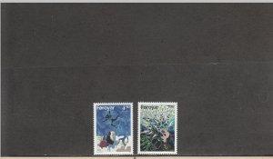FAROE ISLANDS 321-322 MNH 2014 SCOTT CATALOGUE VALUE $3.65