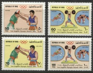 1984 Iraq 1228-1231 MLH 1984 Olympic Games in Los Angeles 4,60 €