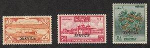Pakistan - 1958-61 - SC O62-64 - LH - High values