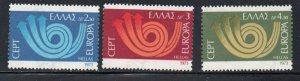 Greece Sc  1090-92 1973  Europa stamp set mint  NH