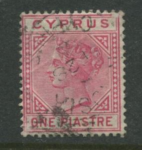 Cyprus - Scott 21 - QV Definitive Issue -1882 - Used - Die B - Single 1pi Stamp